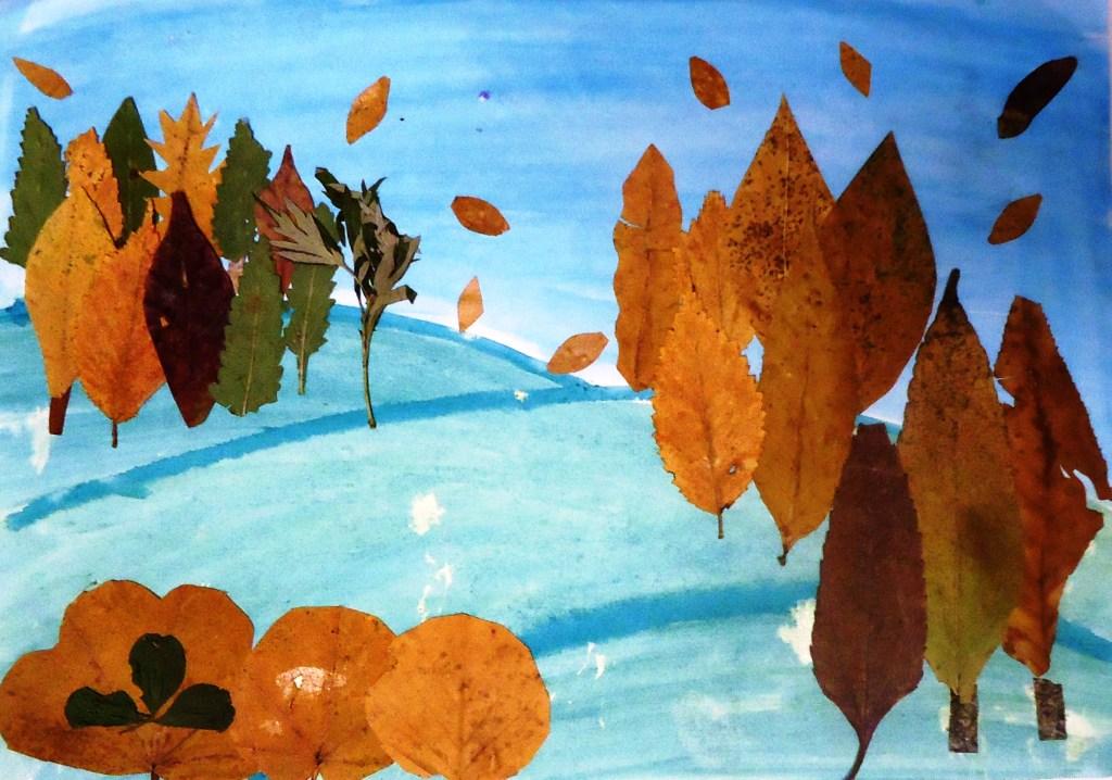 Коллаж из листьев 66